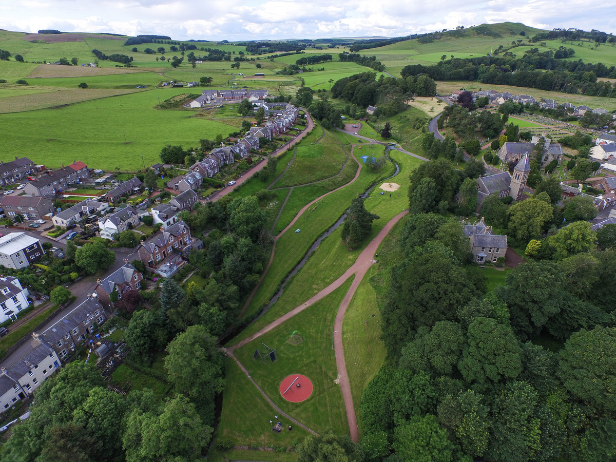 What's on in Biggar aerial view